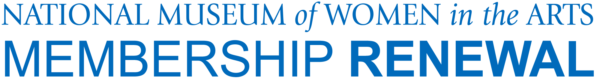 National Museum of Women in the Arts: Memebership Renewal